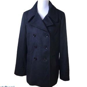 Calvin Klein premium black pea coat 12